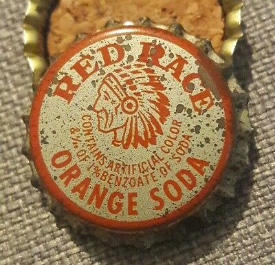 RED RACE ORANGE soda bottle cap unused cork COCA COLA ACL