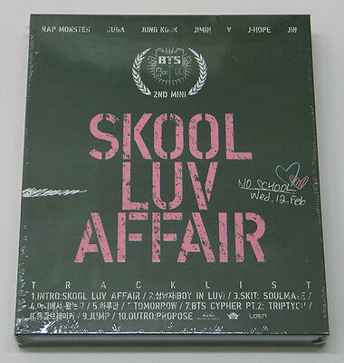 BTS - Skool Luv Affair (2nd Mini Album) CD with Extra Photocards Set