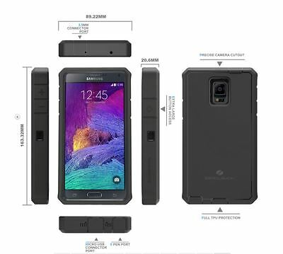 ZeroLemon Samsung Galaxy Note 4 Extended Battery 10000mah + Black Case Cover