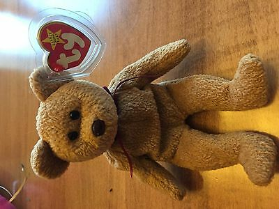 TY Beanie Baby Curly the Bear Includes Tag Errors and Special Features (RARE)