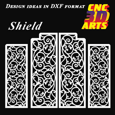CNC DXF Shield #2 art plasma laser water jet router contour cutting DWG CDR