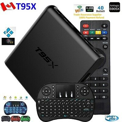 T95X  Android TV Box Amlogic S905X 64  KODI 17 + Wireless Keyboard