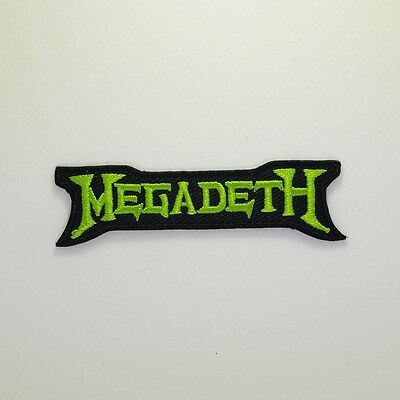 Megadeth Patch - Iron On Badge Embroidered Motif - Music Thrash Metal Band #286