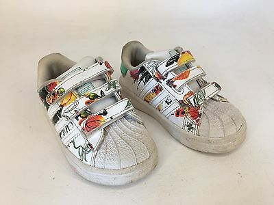 Adidas - Toddler Shoes / Sneakers / Kicks - White With Fruit - Size 6