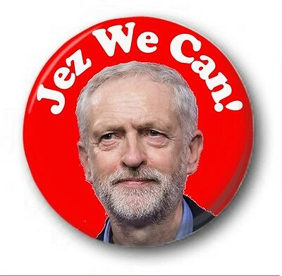 JEZ WE CAN 1 inch / 25mm Button Badge - Labour Election Jeremy Corbyn Vote