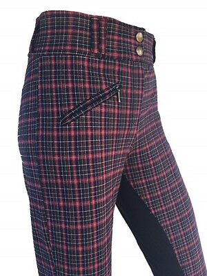 Ladies Breeches, Womens Checked Breeches,Full Seat Suede. Sizes 10,12,14,16