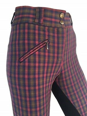 Ladies Checked Breeches, Womens Breeches,Full Seat Suede. Sizes 8,10,12,14,16,18