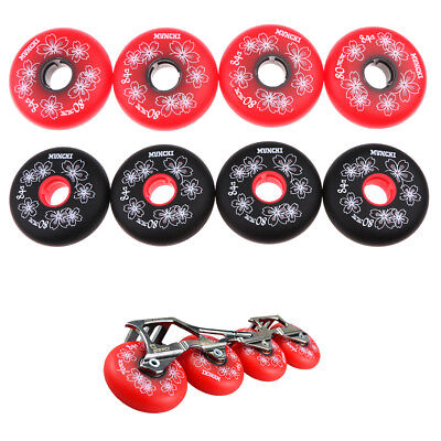 4x Outdoor Inline Roller Skate Hockey Skating Wheels Replacement 84A 72-80mm
