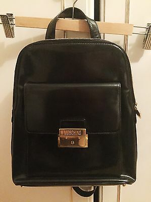 GENUINE MOSCHINO Vintage Leather Backpack bag