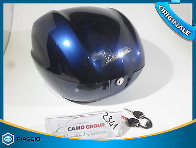 Bauletto Blu Rear Trunk Blue Original Piaggio Vespa Primavera 50 125 2014 Sprint