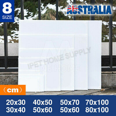 5x Blank Art Supply Professional Quality Stretched Canvas White Acrylic Wood