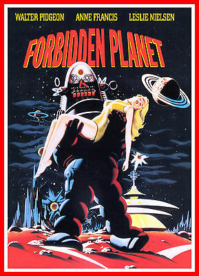 Forbidden Planet   Science Fiction Vintage Movie Posters Classic Films