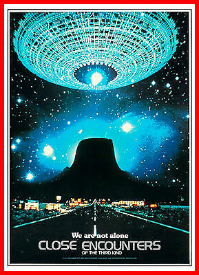 Close Encounters Of The Third Kind 2   Science Fiction Vintage Movie Posters