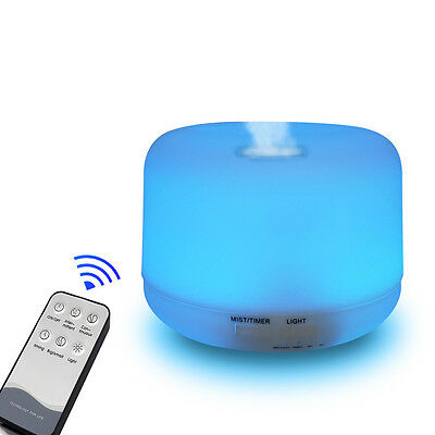 Cool Mist Ultrasonic Air Humidifier Aroma Essential Oil Diffuser for  Room Spa