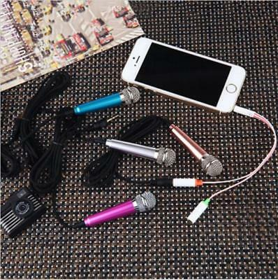 Wired Mini Cell Phone Microphone Stereo Mic for Chatting Singing Portable