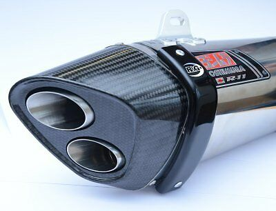 WK 650 i 2013 R&G Racing Exhaust Protector / Can Cover EP0010BK Black