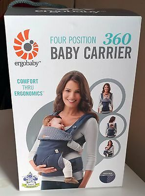 Ergobaby Four Position 360 Baby Carrier - Dusty Blue - NEW!