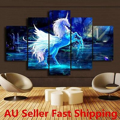 5Pcs Modern Horse Picture Canvas Art Painting Print Home Wall Decor Unframed New