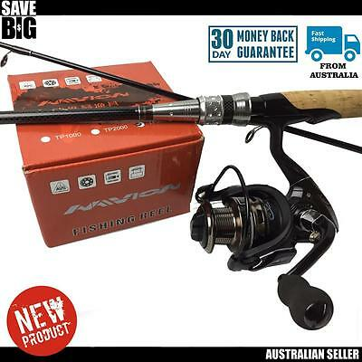 Fishing rod and reel spin combo quality Avion package lure soft plastic RRP$169
