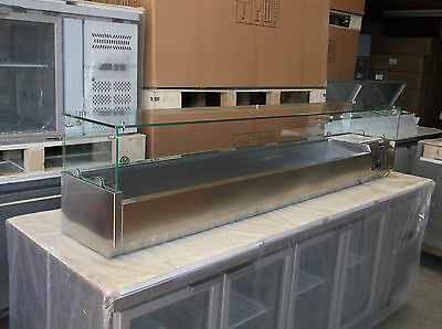 VRX2000/330 2.0m PREP TOP Stainless Steel 10x1/4GN SIZE with Glass top