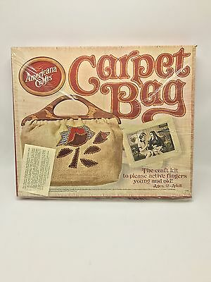 Vintage Hasbro Carpet Bag Craft Kit Purse New in Box 1970s Hippie Boho