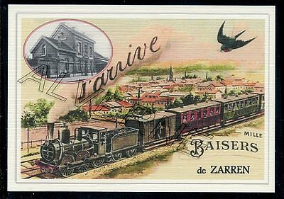 ZARREN  -TRAIN souvenir creation moderne - serie limitee numerotee