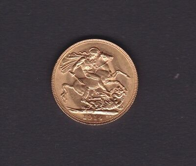 1914 Perth Mint Gold Full Sovereign in Fine Condition