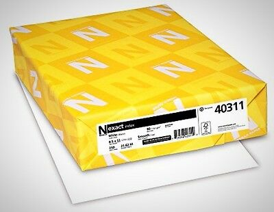 Neenah Exact Index Card Stock 8.5 X 11 Inch White 250 X Sheet Durable Paper
