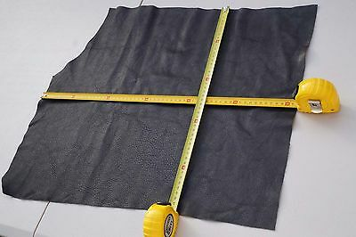 Grey Elmo cowhide upholstery leather piece/off-cut 54 x 47 cm