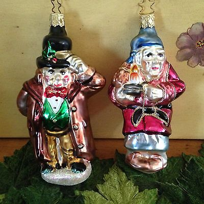 Old World Inge Ornaments Christmas Carol Dickens Old Scrooge Friendly Solicitor