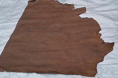 Two tone Brown cowhide leather partial hide Chrome tanned 130 x 95 cm