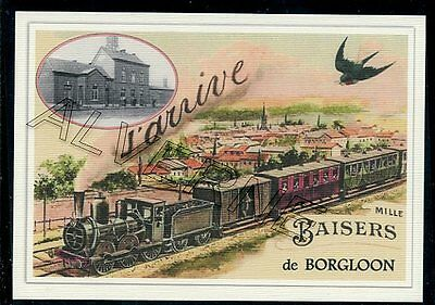 BORGLOON  --.... train ..  souvenir creation moderne serie numerotee