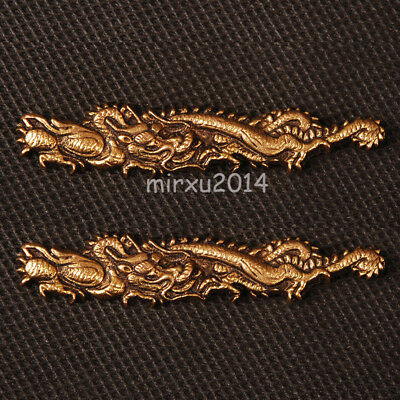 High grade Brass Gold Dragon Menuki For Japanese Katana Wakizashi Tanto
