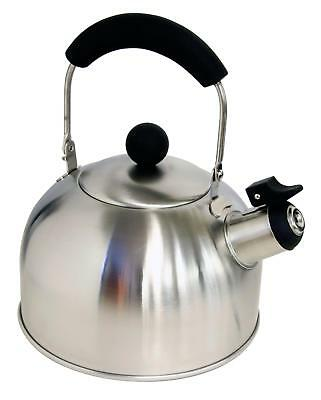 Halfords Stainless Steel Outdoor Camp Hiking Travel Camping Whistling Kettle