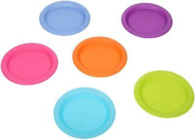 Halfords Plastic Outdoor Camp Hiking Travel Cooking Camping Plate Set Of 6