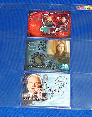 Buffy The Vampire Slayer Trading Cards Pieceworks Pwc-2 & Pw-3 + Autograph A43