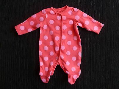 Baby clothes GIRL premature/tiny<7.5lbs/3.4k bright pink spotted babygrow M'care