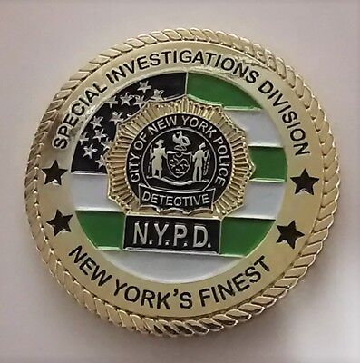 New York City Police Detective Bureau Special Investigations Challenge Coin