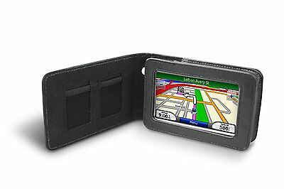 "GARMIN Genuine NUVI Leather Carrying Case for 4.3"" Series 200W 400 700 800"