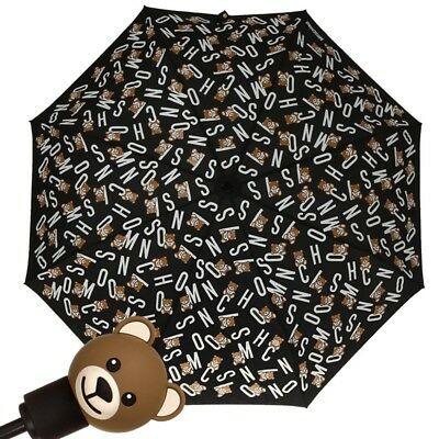 Umbrella MOSCHINO Black with bear toy handle  Openclose 8181