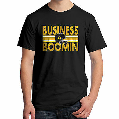 Business is Boomin T-Shirt 2-Sided Antonio Steeler Football Brown Booming 1971