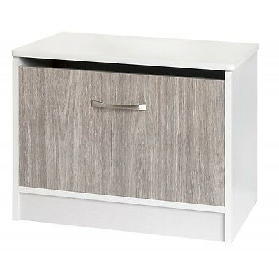 Grey Gloss and White Storage Box Ottoman Bedroom Furniture Quality Value Bed