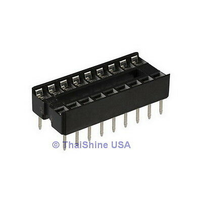50 x 16 pin DIP IC Sockets Adaptor Solder Type Socket - USA Seller - Free Ship