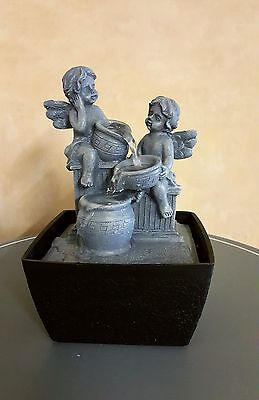 2 Angels Cherub Water Fountain - Indoor Water Feature -  240v Mains