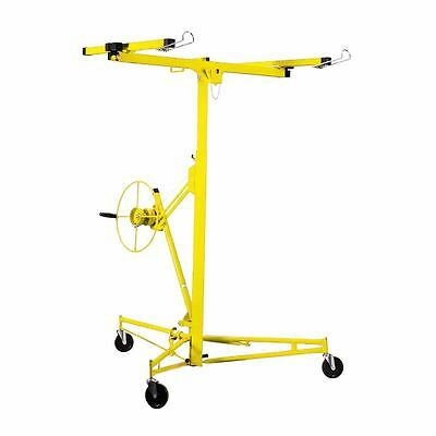 pro 11' Drywall Rolling Lifter Panel Hoist Jack Caster Construction Tool yellow