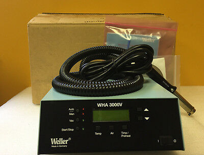 Weller WHA3000V 475 W, 150° to 999°F, SMD Rework Hot Air System. New + Accy's