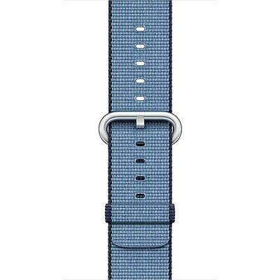 Apple - Woven Nylon for Apple Watch 38mm - Navy/Tahoe Blue MP222AM/A