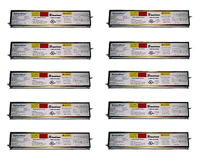 10 Ballastwise DXE2H8U-HBF Ballasts for 2 F32T8 F25T8 or F17T8 Bulbs T8 Light