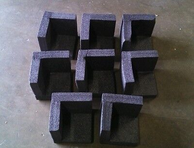 "8 pcs Styrofoam packing corners 5-3/4"" x 5-3/4"" x 1-1/2"" thick"
