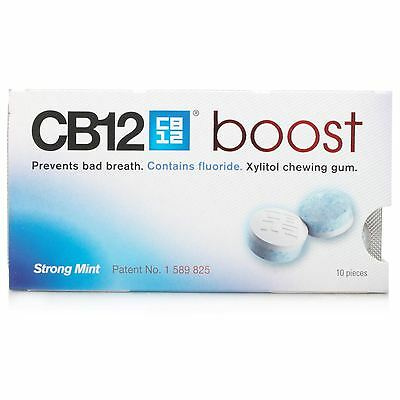 CB12 Boost Strong Mint Gum Prevents Bad Breath 10 Pieces 1 2 3 6 Packs